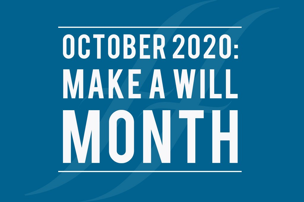 October is make a will month